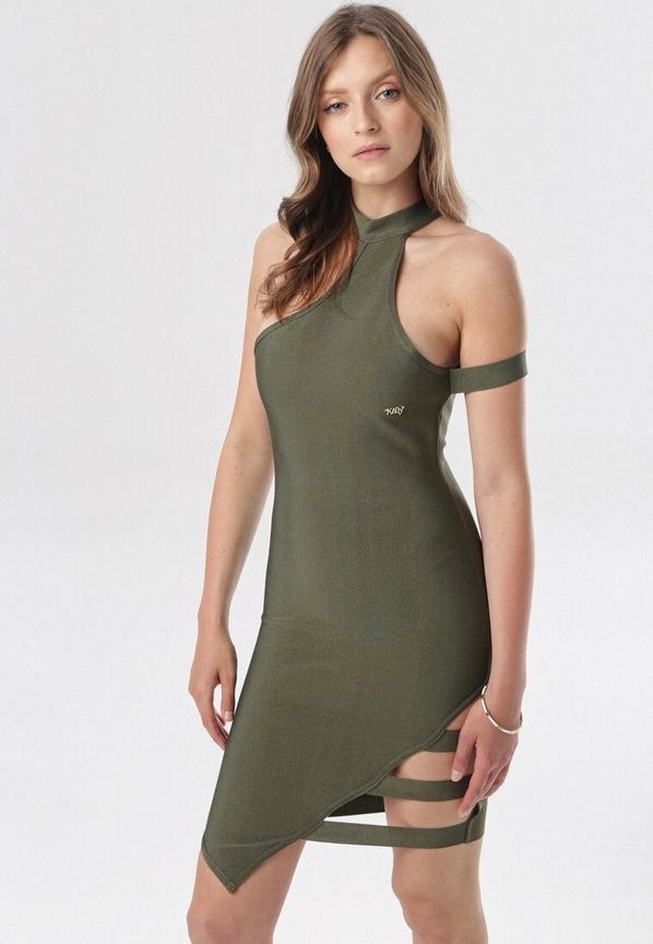 Sukienka born2be na ramiączkach mini dopasowana