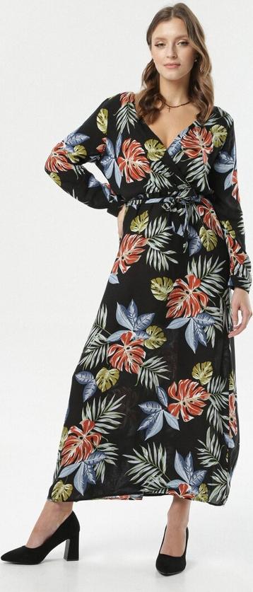 Sukienka born2be prosta z dekoltem w kształcie litery v