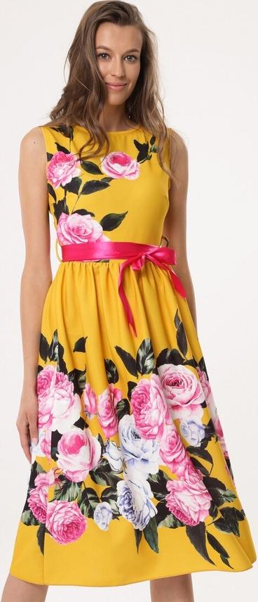 Sukienka born2be rozkloszowana maxi w stylu casual