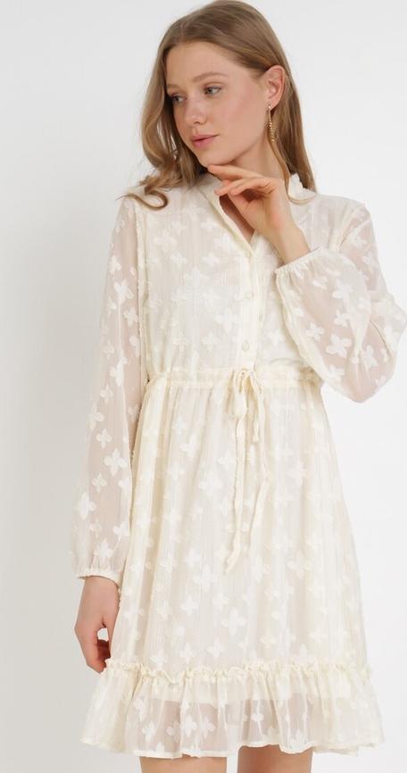 Sukienka born2be trapezowa z długim rękawem mini