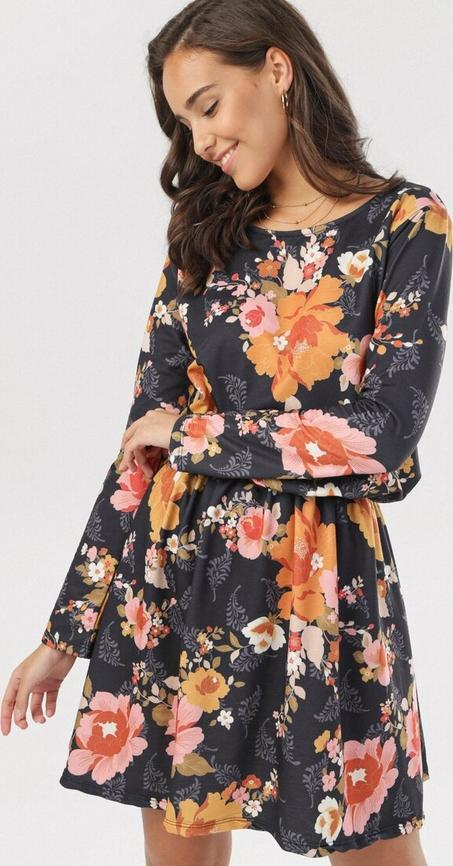Sukienka born2be w stylu boho mini trapezowa