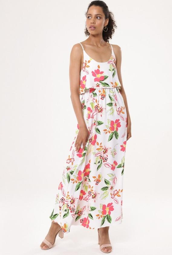 Sukienka born2be w stylu boho z okrągłym dekoltem maxi