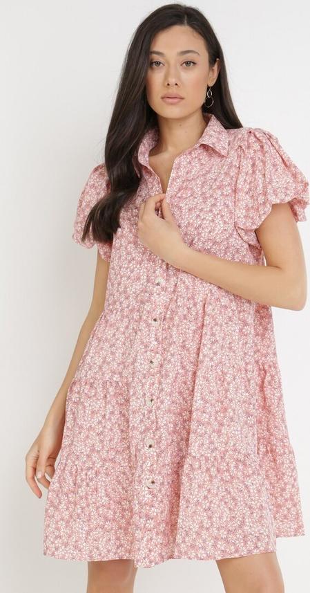 Sukienka born2be w stylu casual z okrągłym dekoltem