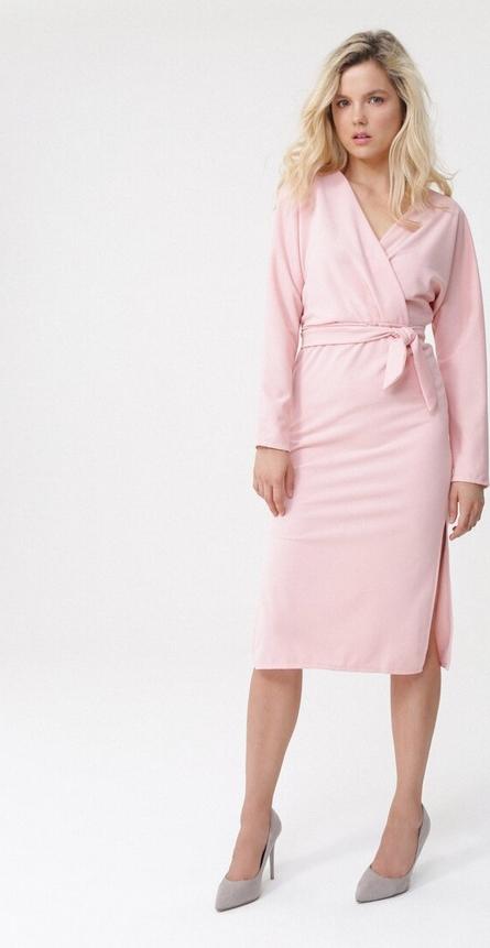 Sukienka born2be z dekoltem na plecach z dzianiny w stylu casual