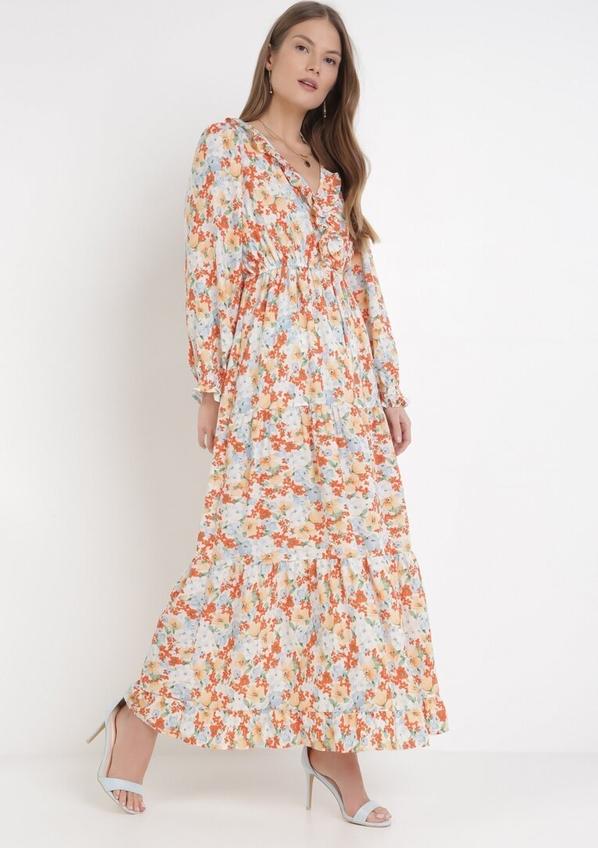 Sukienka born2be z dekoltem w kształcie litery v maxi