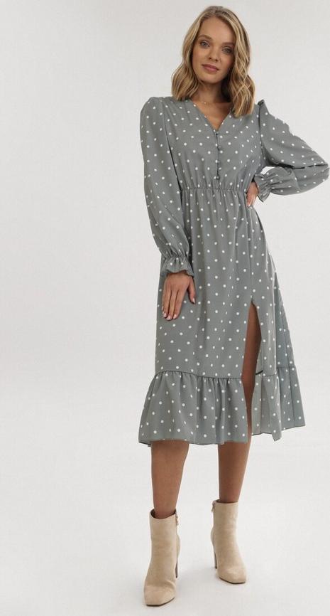 Sukienka born2be z długim rękawem midi