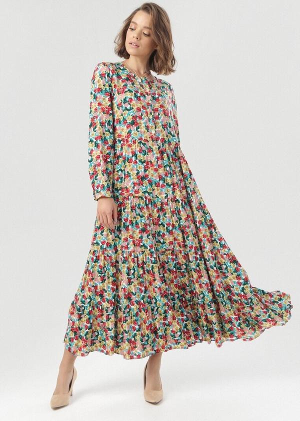 Sukienka born2be z długim rękawem w stylu boho