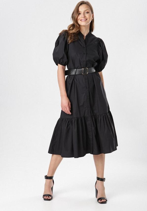 Sukienka born2be z kołnierzykiem midi