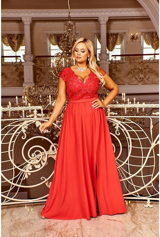 Sukienka Bosca z dekoltem w kształcie litery v maxi
