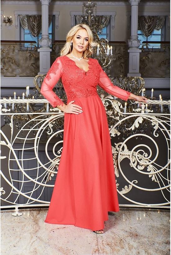Sukienka Bosca z długim rękawem z dekoltem w kształcie litery v