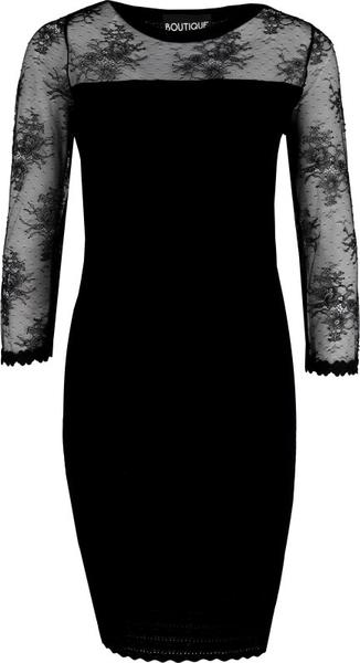 Sukienka Boutique Moschino midi z długim rękawem