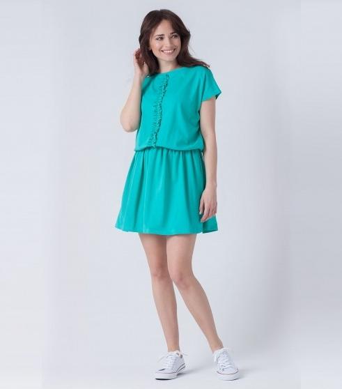 Sukienka butik-choice.pl mini z okrągłym dekoltem z dresówki