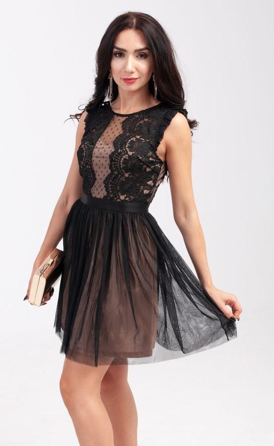 Sukienka Butik Ecru mini rozkloszowana