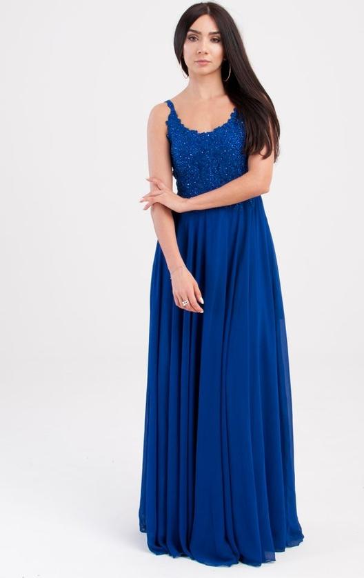 Sukienka Butik Ecru z szyfonu