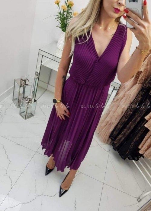 Sukienka butiklalala z dekoltem w kształcie litery v