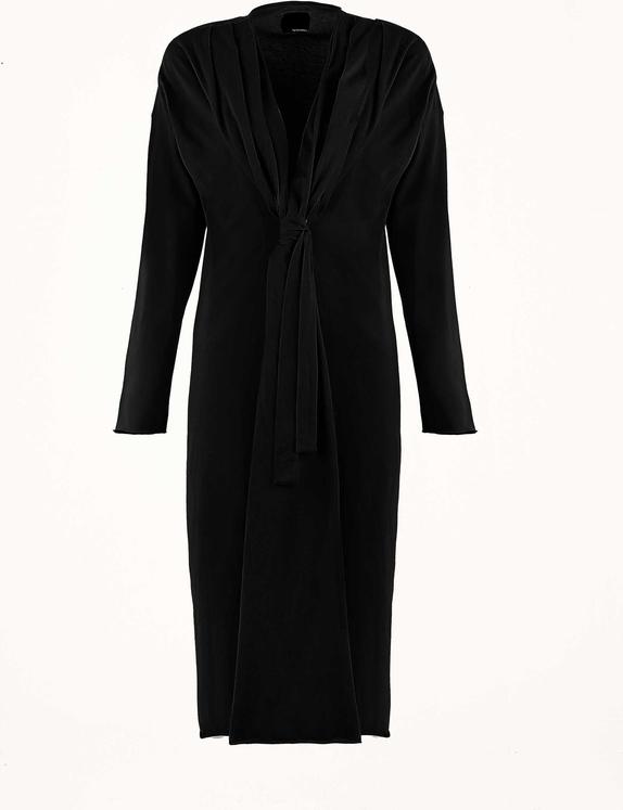 Sukienka Byinsomnia midi z długim rękawem z dekoltem w kształcie litery v