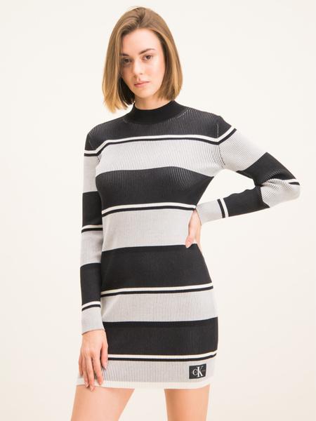 Sukienka Calvin Klein mini w stylu casual z długim rękawem