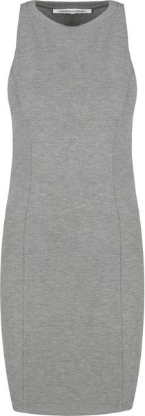 Sukienka Calvin Klein mini z okrągłym dekoltem bez rękawów