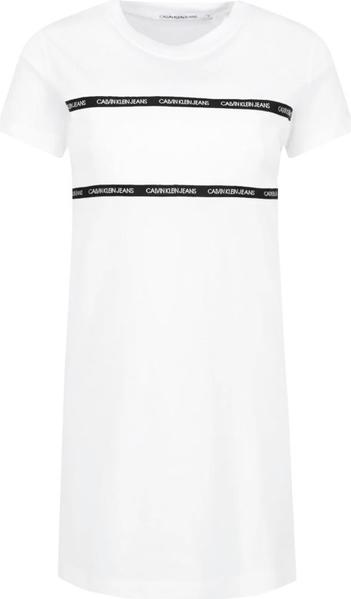 Sukienka Calvin Klein w stylu casual mini z krótkim rękawem
