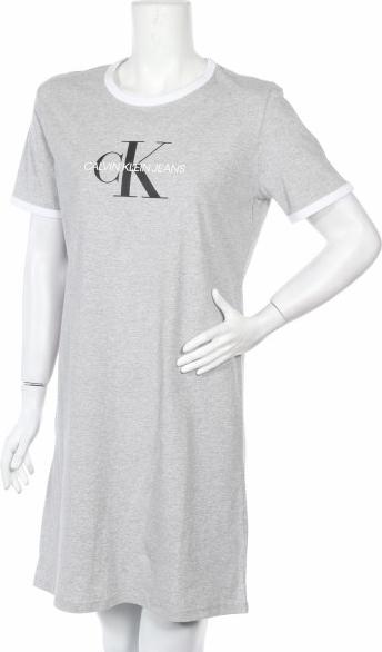 Sukienka Calvin Klein w stylu casual z okrągłym dekoltem prosta