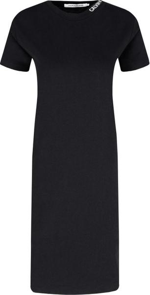 Sukienka Calvin Klein z krótkim rękawem z okrągłym dekoltem midi