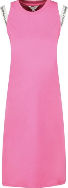 Sukienka Calvin Klein z okrągłym dekoltem bez rękawów mini