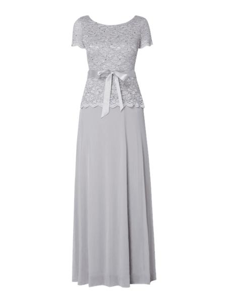 Sukienka Christian Berg Cocktail baskinka z okrągłym dekoltem maxi