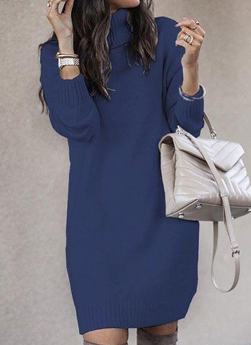 Sukienka Cikelly prosta z długim rękawem
