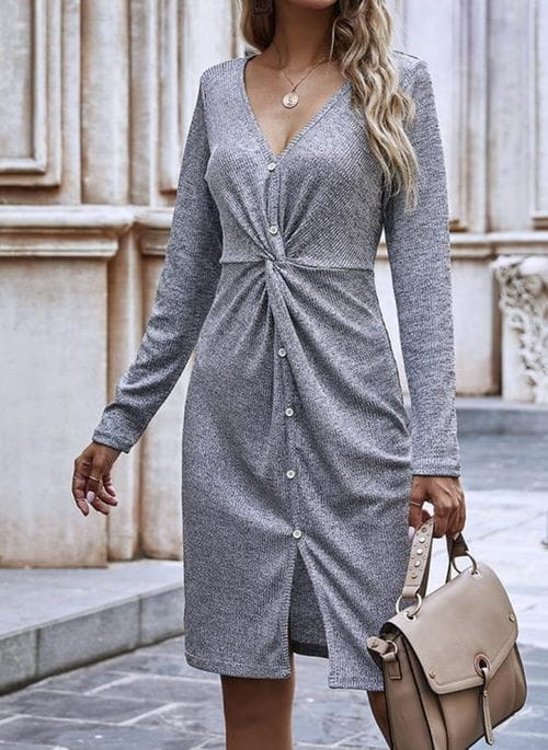 Sukienka Cikelly sportowa z długim rękawem mini