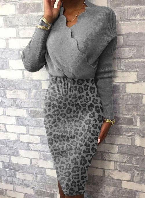 Sukienka Cikelly w stylu casual z dekoltem w kształcie litery v mini