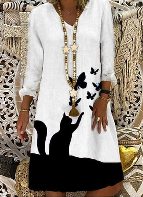 Sukienka Cikelly z długim rękawem mini w stylu casual