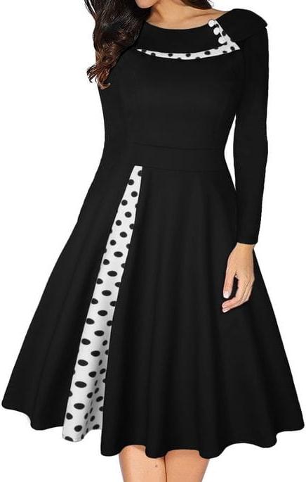 Sukienka Cikelly z długim rękawem z okrągłym dekoltem sportowa