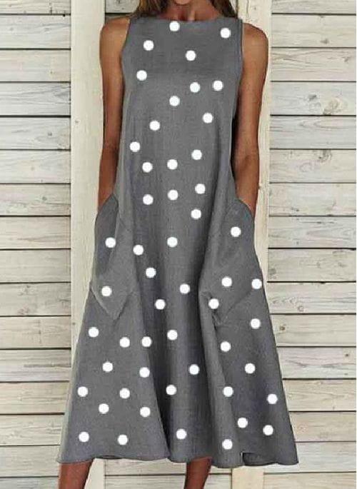 Sukienka Cikelly z okrągłym dekoltem
