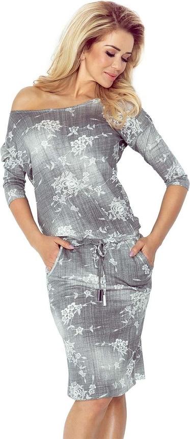 Sukienka Coco Style z długim rękawem w stylu casual midi
