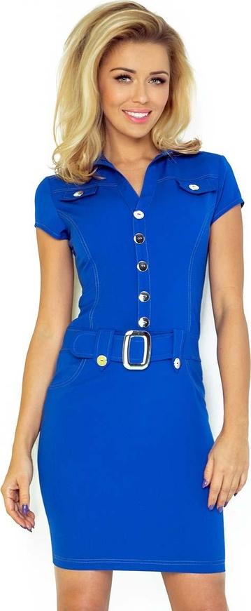 Sukienka Coco Style z krótkim rękawem mini z dekoltem w kształcie litery v