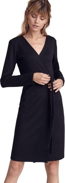 Sukienka Colett z dekoltem w kształcie litery v z długim rękawem z wełny