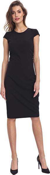 Sukienka Colett z krótkim rękawem z okrągłym dekoltem