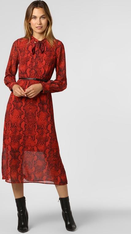 Sukienka comma, z kołnierzykiem z długim rękawem