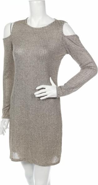Sukienka Creme Fraiche prosta mini z okrągłym dekoltem