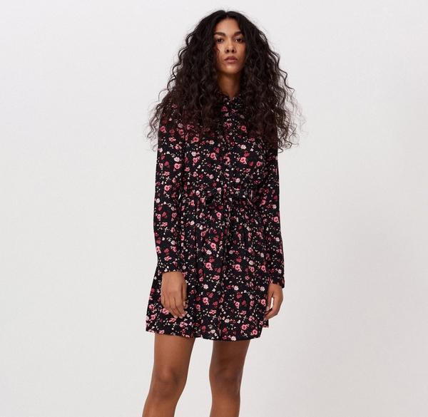 Sukienka Cropp mini z długim rękawem koszulowa