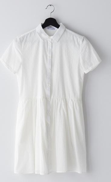 Sukienka Cropp w stylu casual z bawełny z kołnierzykiem