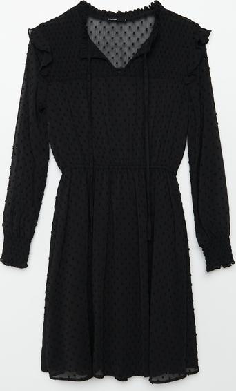 Sukienka Cropp z długim rękawem z szyfonu mini