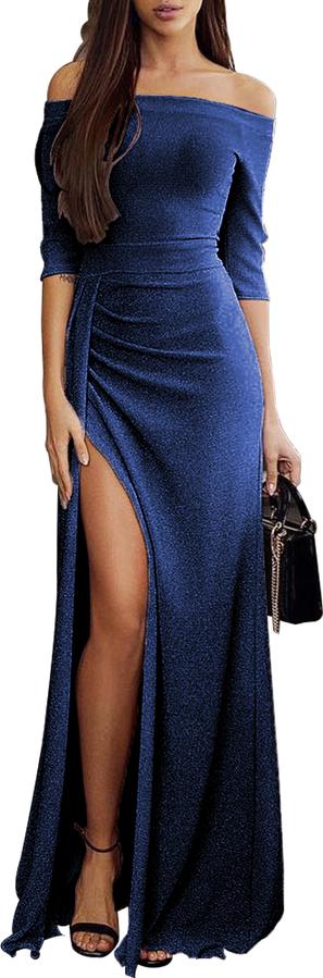 Sukienka DAFNIS z długim rękawem maxi
