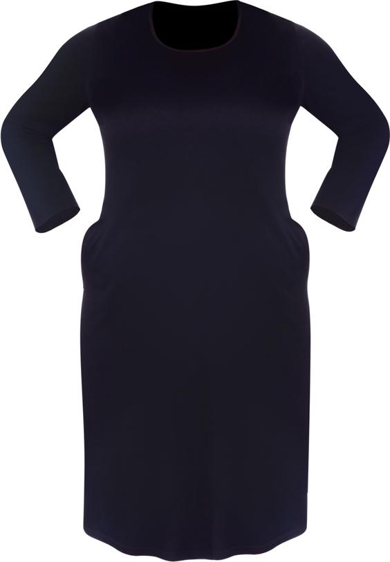 Sukienka Dedra prosta w stylu casual z długim rękawem