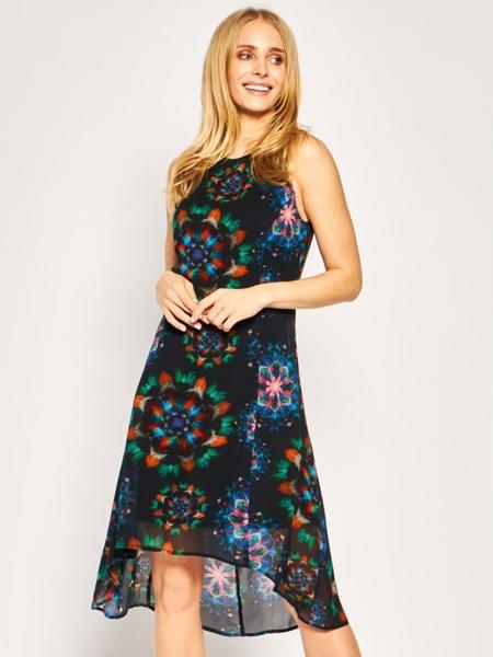 Sukienka Desigual bez rękawów w stylu boho