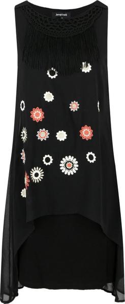 Sukienka Desigual bez rękawów w stylu casual z okrągłym dekoltem