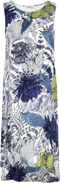 Sukienka Desigual midi z okrągłym dekoltem bez rękawów