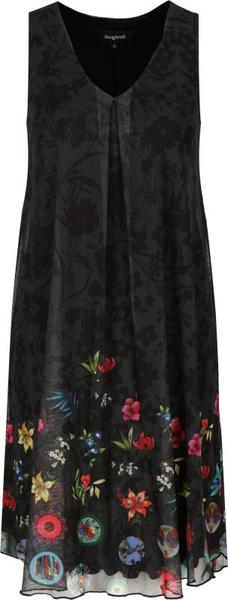Sukienka Desigual z dekoltem w kształcie litery v mini bez rękawów
