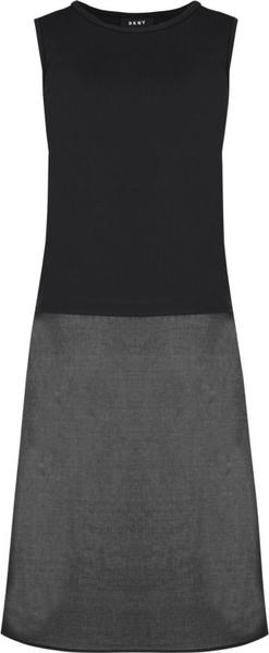Sukienka DKNY z okrągłym dekoltem bez rękawów midi