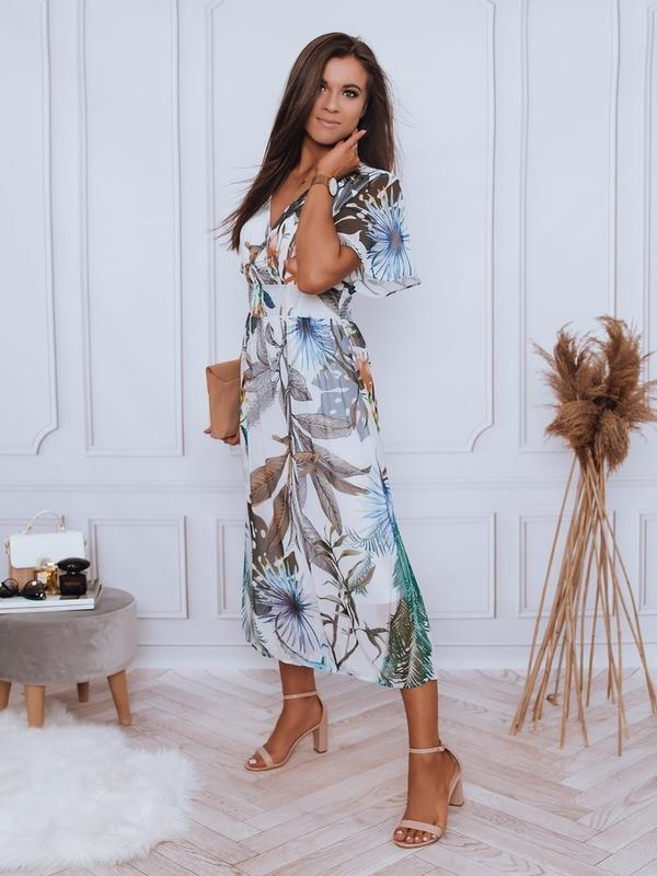 Sukienka Dstreet z długim rękawem trapezowa midi